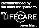 LifeCare Logo Einbindung EN Negativ